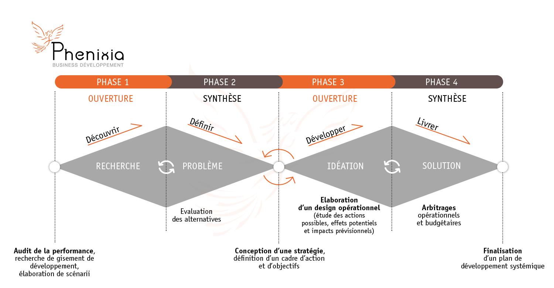 Schéma du process de travail PHENIXA
